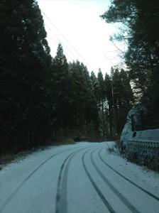 雪景色は大好きですが山が止まります。