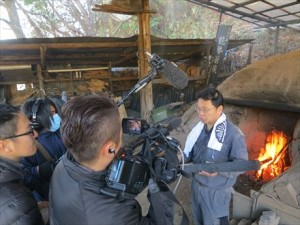 eo光ニュース関西の匠「菊炭にかける情熱 ~気品漂う世界最高の炭~ 取材受けました。